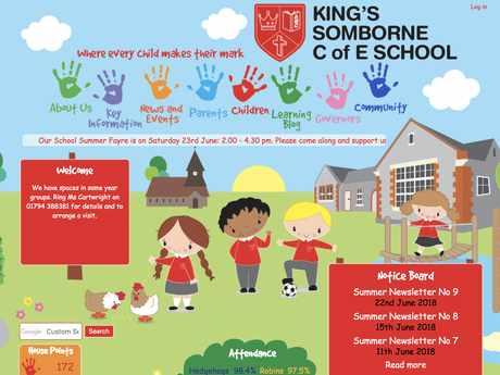 Kings Somborne C of E School website design