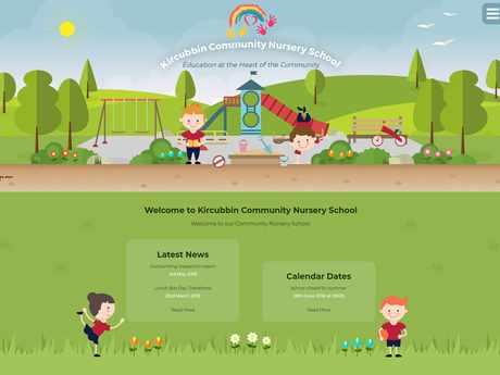 Kircubbin Community Nursery School website design