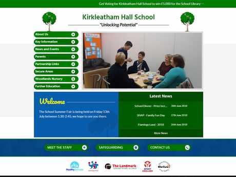 Kirkleatham Hall School website design