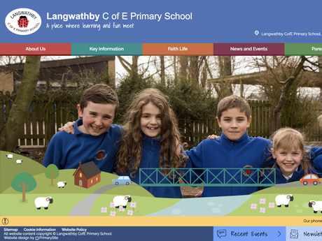 Langwathby C of E Primary School website design