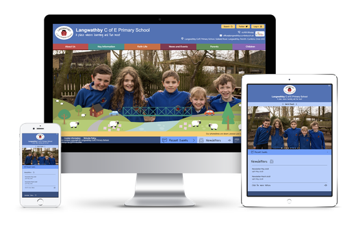 Langwathby C of E Primary School website design