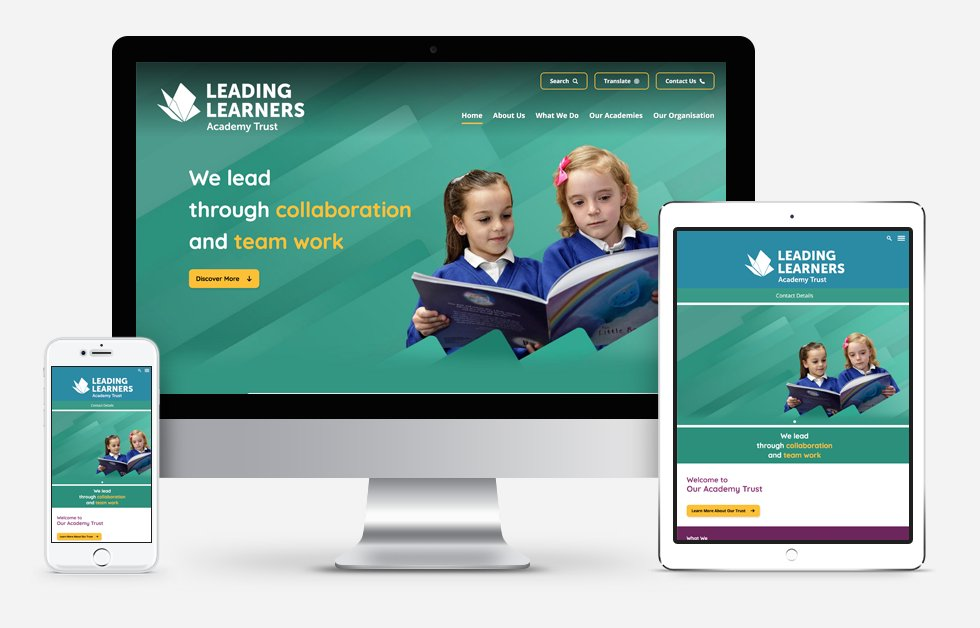New Website Designed For  Leading Learners Academy Trust