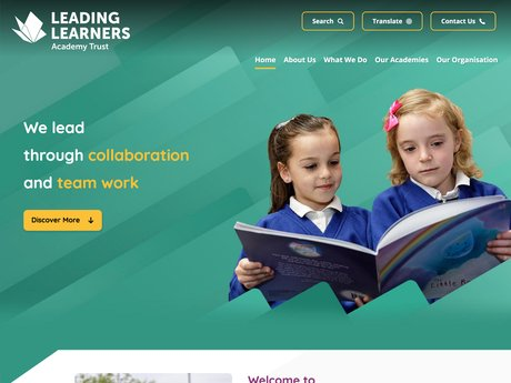 Website Design For Leading Learners Academy Trust
