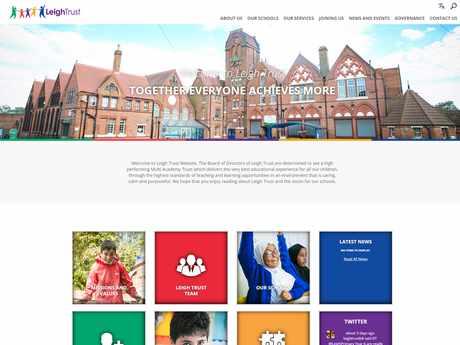 Leigh Trust website design