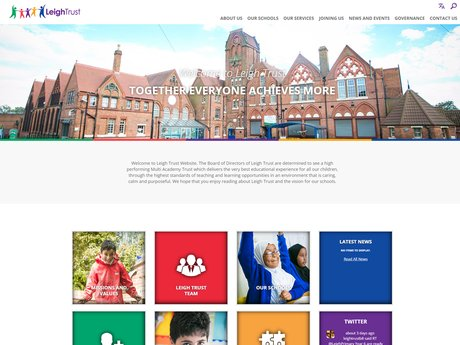 Leigh Trust website design