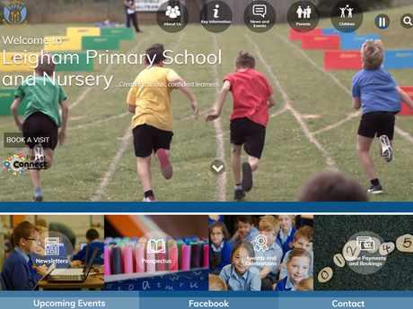 Leigham Primary School website design
