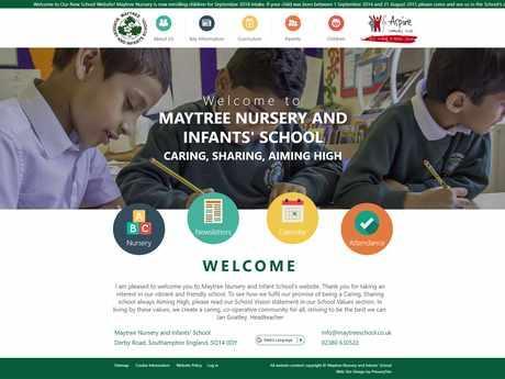 Maytree Nursery and Infants School website design
