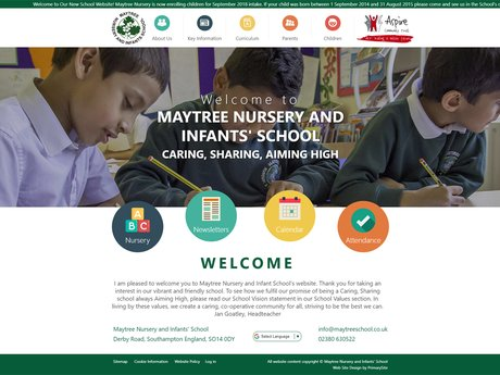 Maytree Nursery and Infants School website design