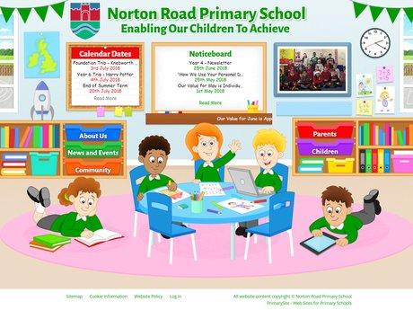 Website Design For Norton Road Primary School