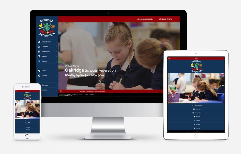 New Website Designed For Oakridge Schools Federation