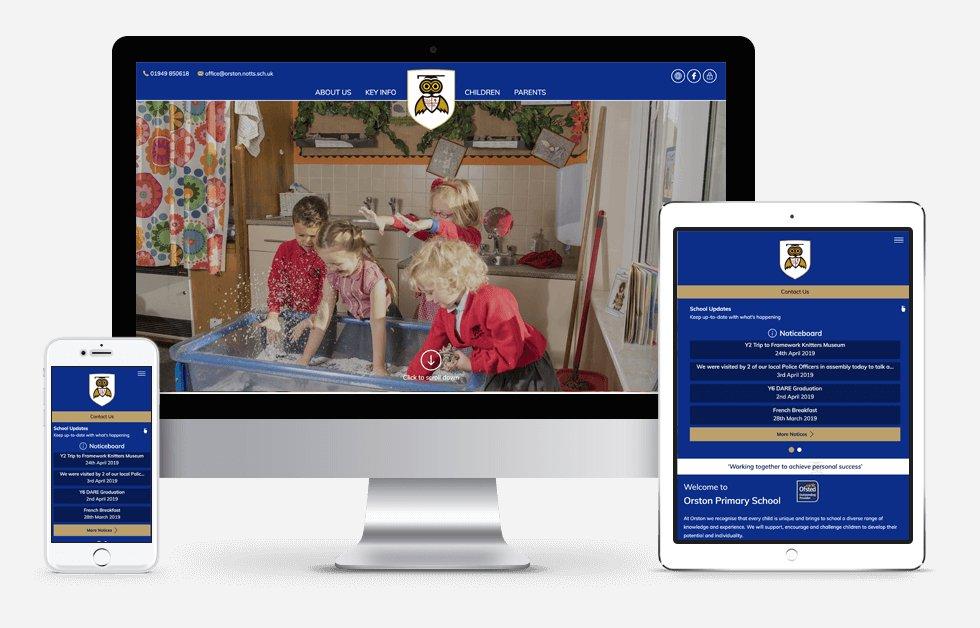 Website Design For Orston Primary School