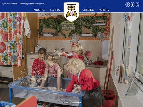 Orston Primary School Website Design