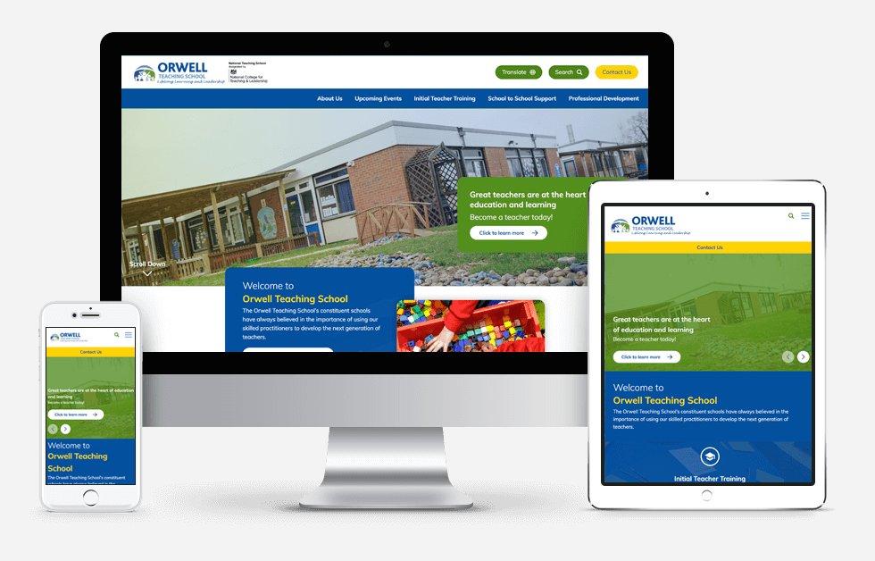 Orwell Teaching School Website Design
