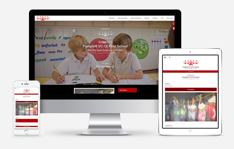 New Website Designed For Pamphill CE VC First School