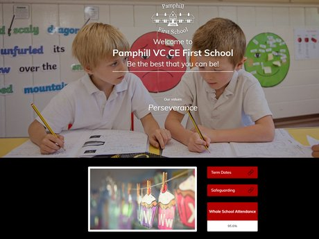Pamphill CE VC First School Website Design