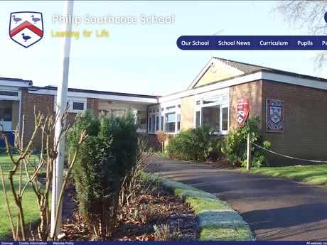 Philip Southcote School website design