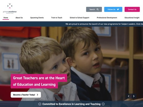 Website Design For Primary Excellence