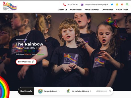 The Rainbow Multi Academy Trust Website Design