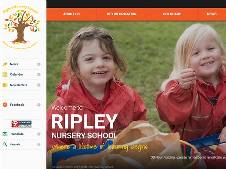 Ripley Nursery School Website Design