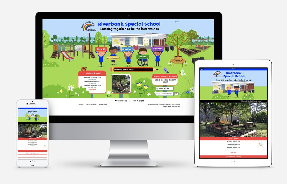 Riverbank Special School Website Design