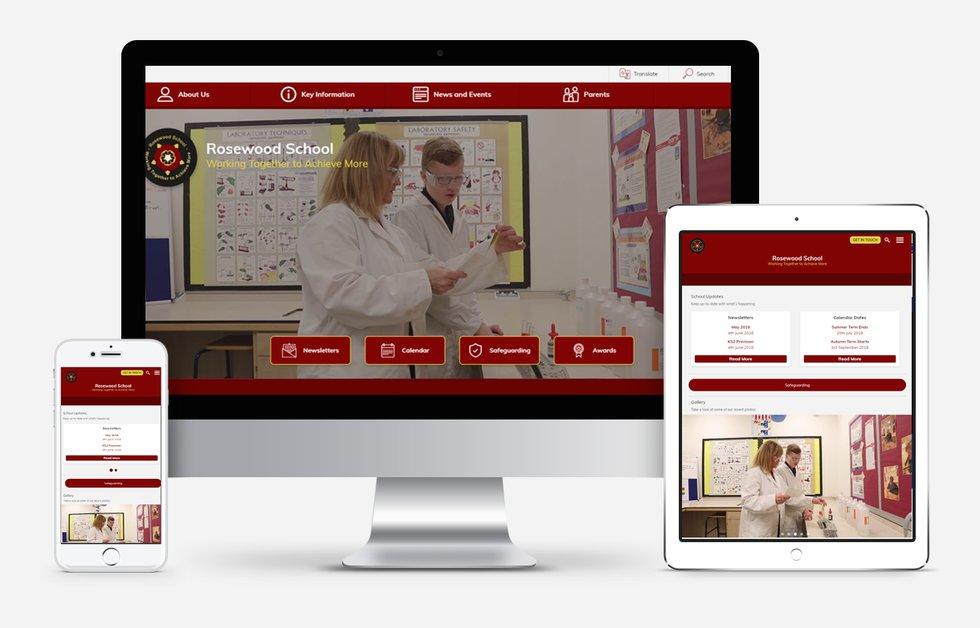Website Design For Rosewood School