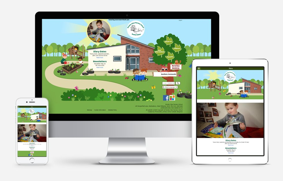 New Website Design For Rowley View Nursery School