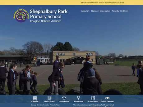 Shephalbury Park Primary School website design
