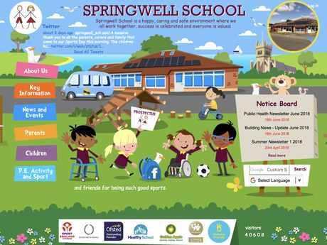 Springwell School website design