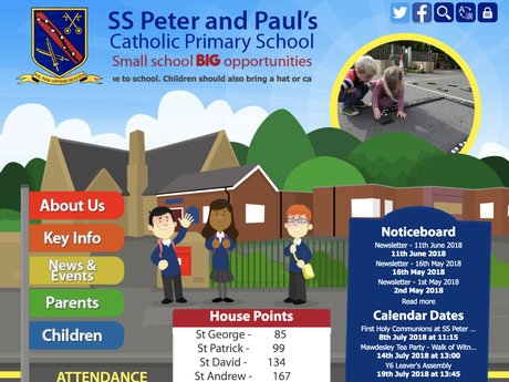 SS Peter and Paul Catholic Primary School Website Design