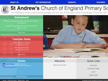 St Andrew's C of E Primary School website design