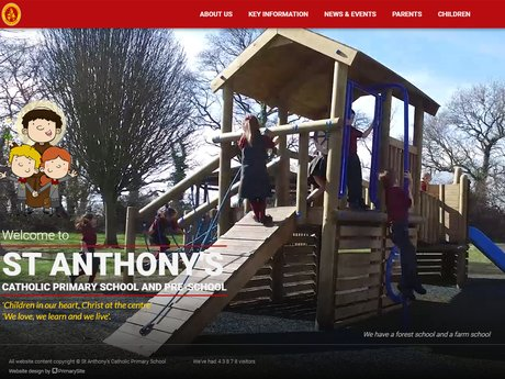 New Website Design For St Anthony's Catholic Primary School
