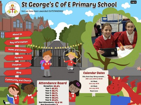 St George's C of E Primary School Website Design