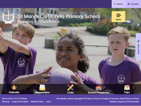 Website Design For St Mary's Church of England Voluntary Aided Primary School