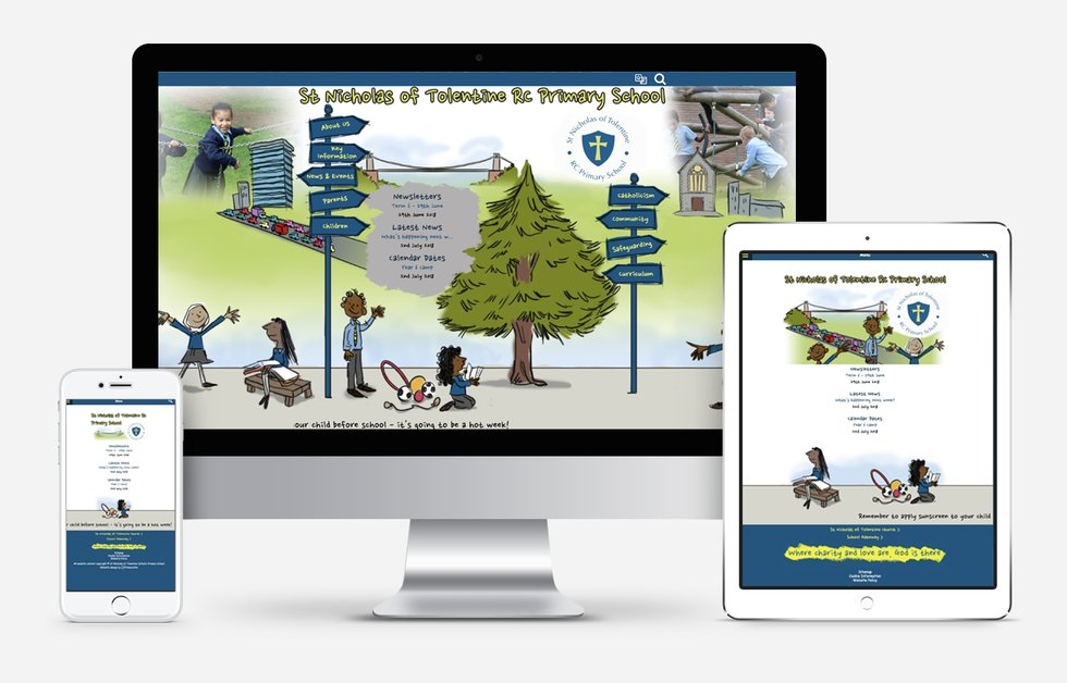 Website Design For St Nicholas of Tolentine Catholic Primary School