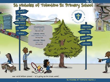 St Nicholas of Tolentine Catholic Primary School Website Design