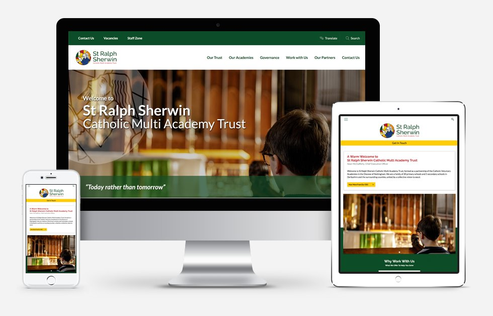 St Ralph Sherwin Catholic Multi Academy Trust Website Design