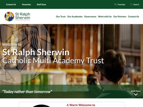 New Website Design For St Ralph Sherwin Catholic Multi Academy Trust