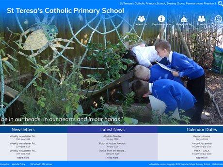 St Teresa's Catholic Primary School website design