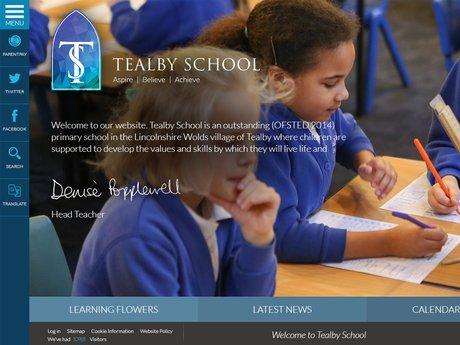Tealby school website design