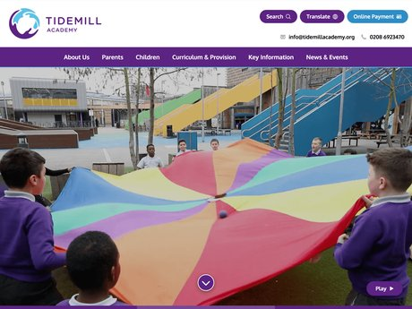 Website Design For Tidemill Academy