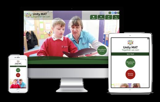 Unity Multi Academy Trust website design