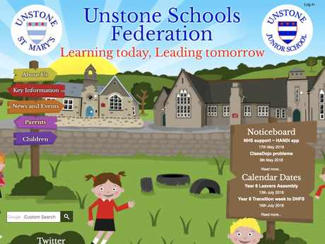 Unstone Schools Federation website design