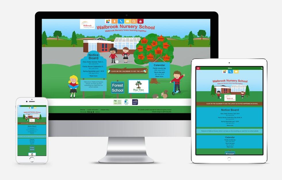 New Website Designed For Walbrook Nursery School