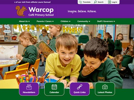 New Website Designed For  Warcop C of E Primary School