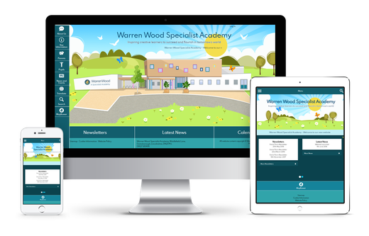 Warren Wood Specialist Academy website design.png