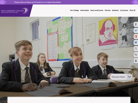 West Somerset College Website Design