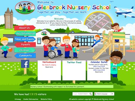 Glenbrook Nursery School website design