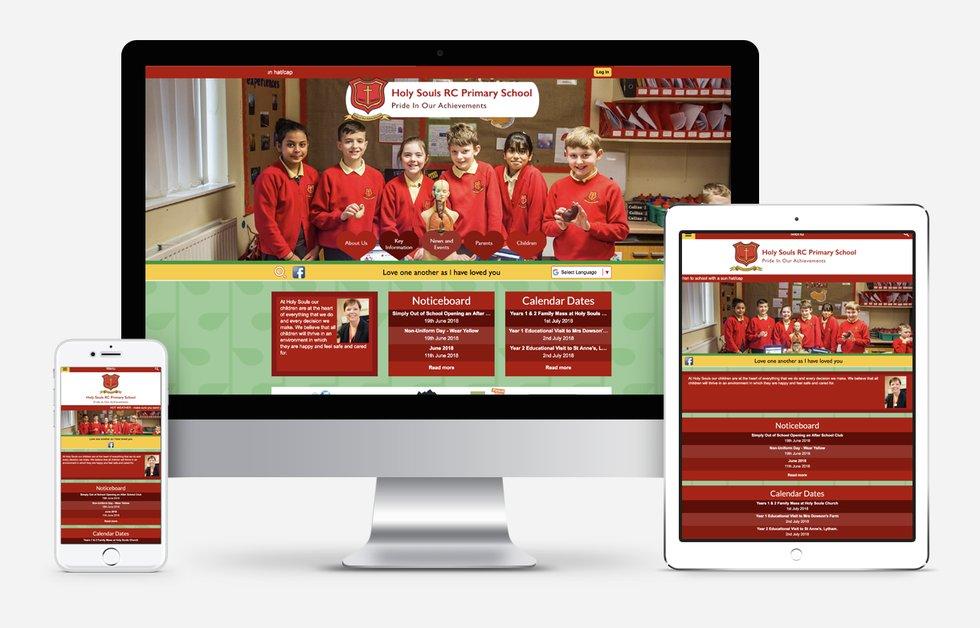 Holy Souls RC Primary School website design