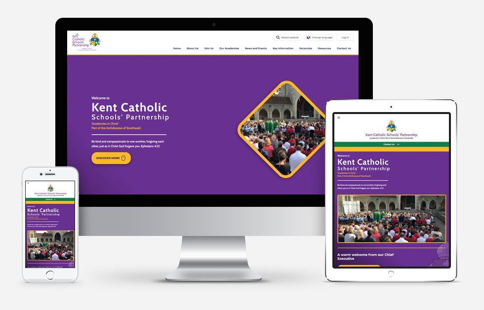 Kent Catholic Schools Partnership website design