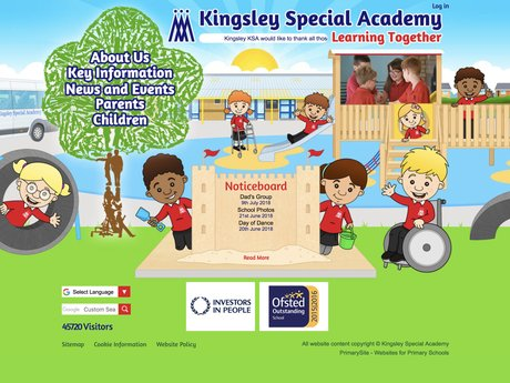 Kingsley Special Academy website design
